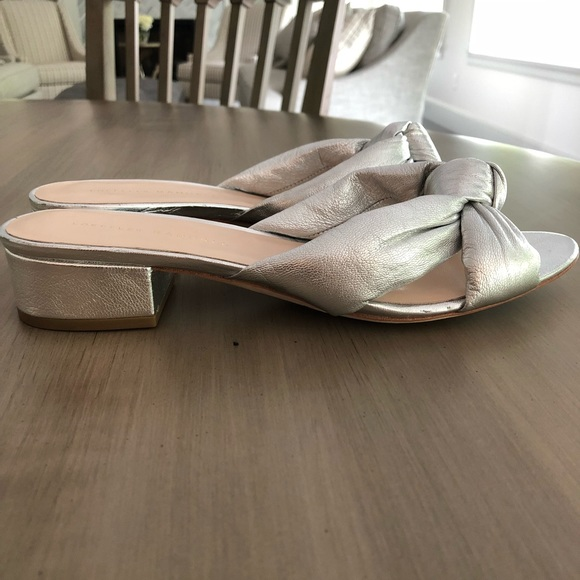 c744f0020c Loeffler Randall Shoes   Elsie Silver Knotted Slides   Poshmark